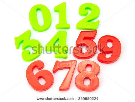 Fridge Magnet Numbers Stock Photos, Royalty.
