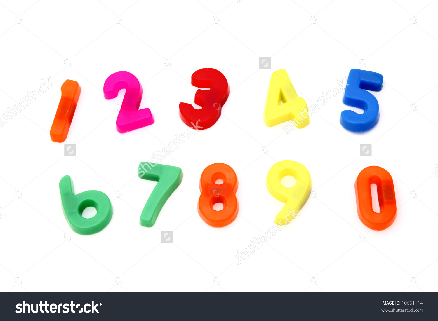Magnetic Numbers Sequence Zero Nine On Stock Photo 10651114.