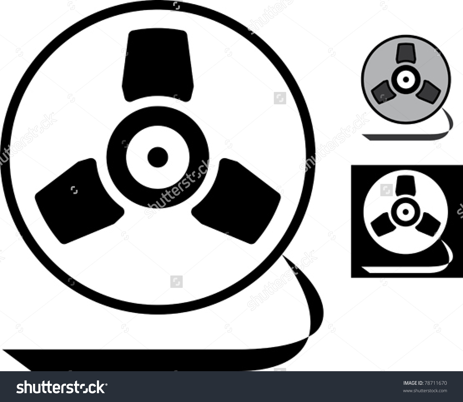 Retro Magnetic Tape Reel Vector Stock Vector 78711670.