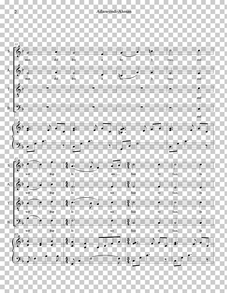 Music Nunc dimittis Magnificat Fauxbourdon Song, sheet music.