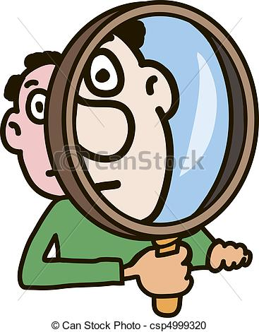 Vector Clipart of Magnifier.