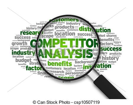 Clipart of Competitor Analysis.