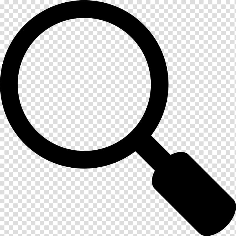 white magnifying glass icon clipart #9