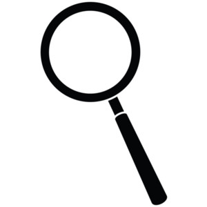 Magnifying glass clipart #9