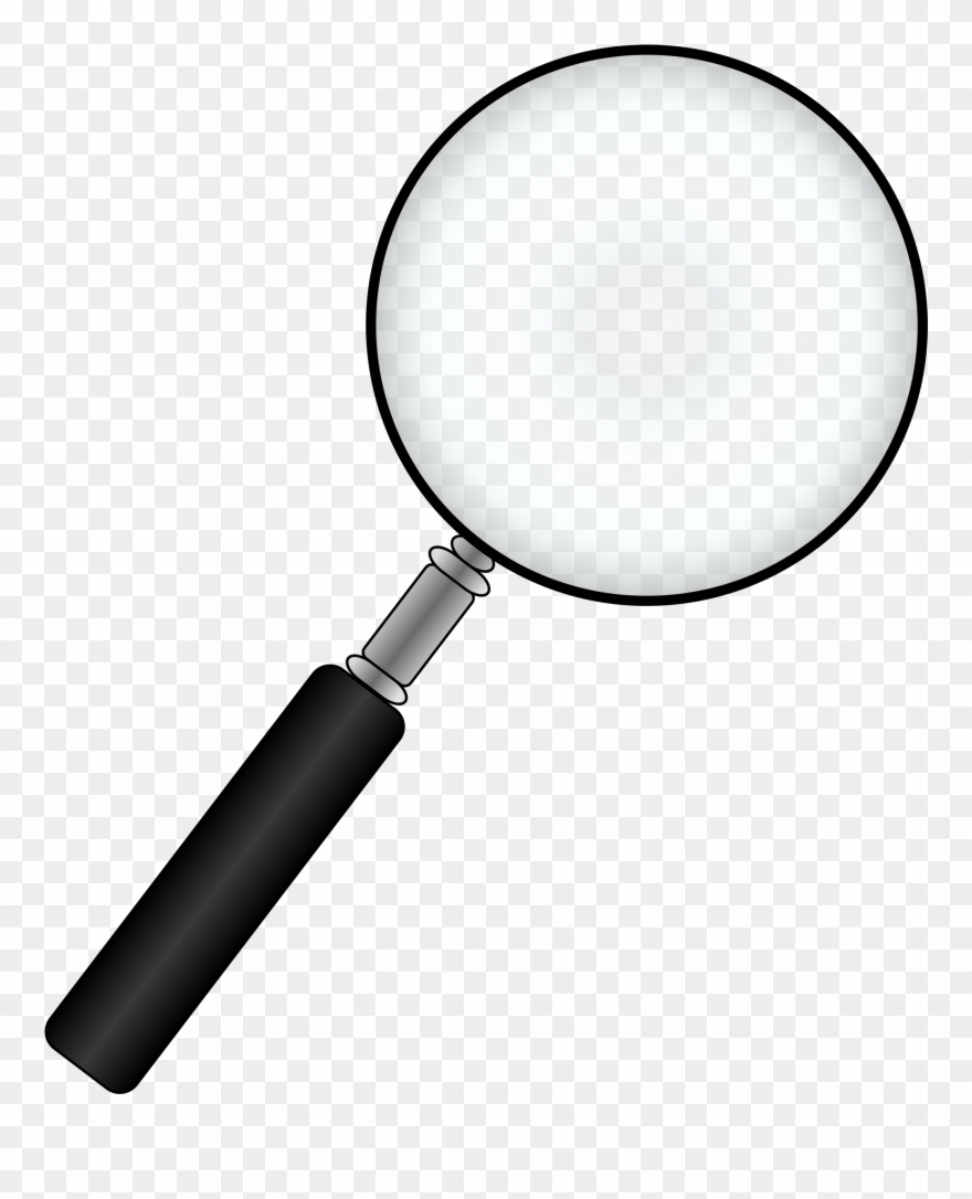 Black Magnifying Glass Clip A.