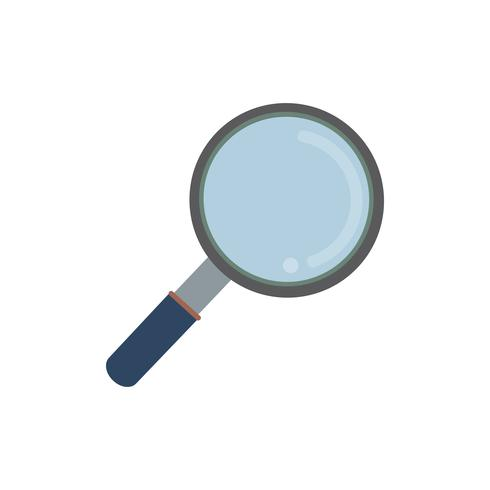 Magnifying glass isolated graphic illustration.