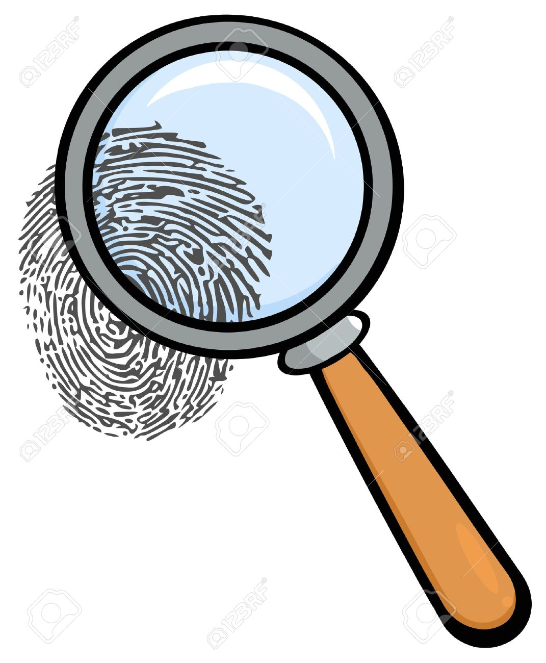 1841 Magnifying Glass free clipart.