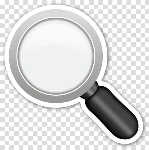 EMOJI STICKER , magnifying glass transparent background PNG.