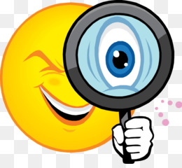 Smiley Emoticon Magnifying glass Clip art.