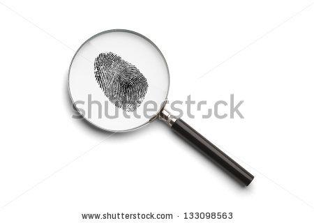 Magnifying Glass Fingerprint Stock Illustration 17270860.
