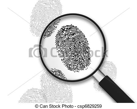 Stock Illustration of Magnifying Glass.