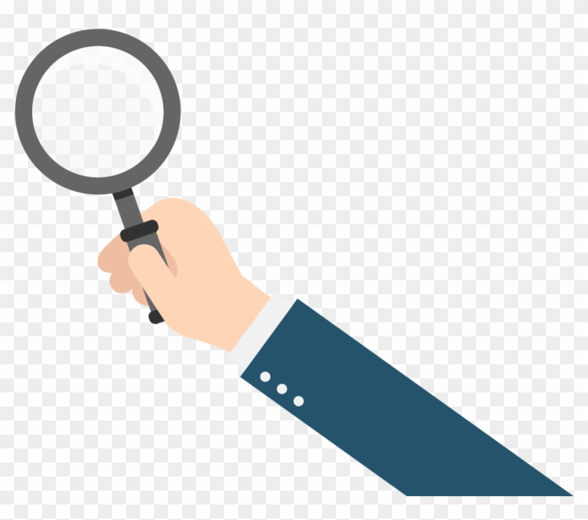 Hand Holding Magnifying Glass Vector , Png Download.