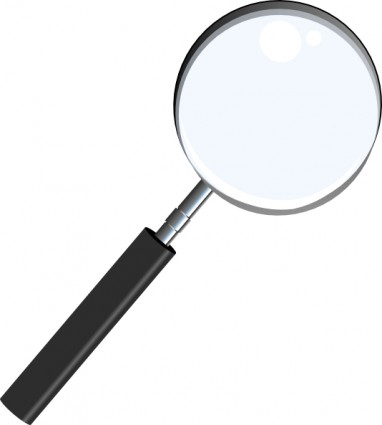 Magnifying lens clipart.