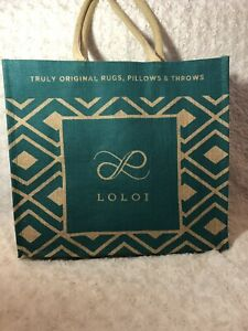 Details about LOLOI Jute Burlap Shopping Tote Magnolia Home Joanna Gaines  Bag Reusable Eco.