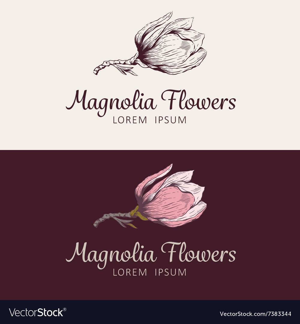 Magnolia flower logo.