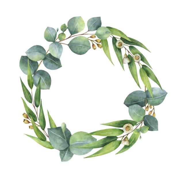 Magnolia Wreath Clipart.