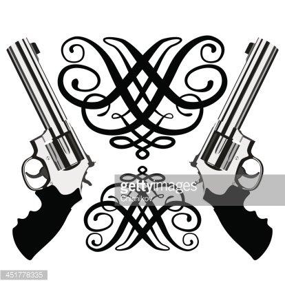 Revolver magnum Clipart Image.