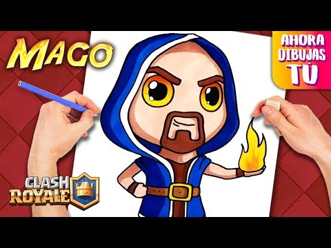 Como dibujar MAGO Clash Royale Dibujos Faciles.