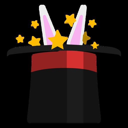 Coelho em ícone de chapéu de mago.