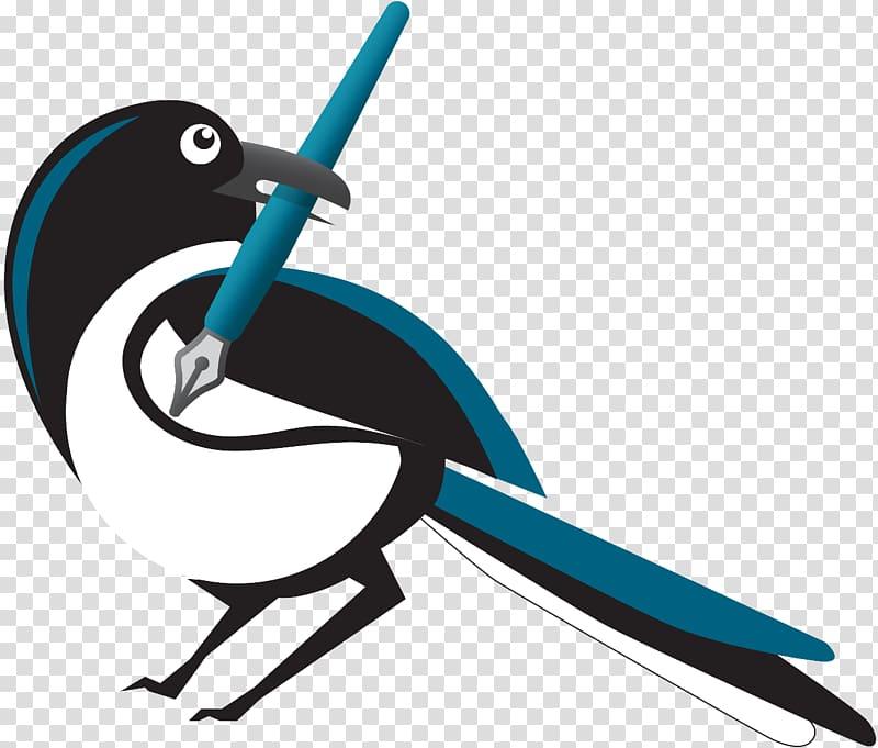 Writing Magpie Bird Email , Bird transparent background PNG.