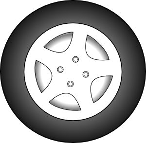 Wheel Chrome Rims Clip Art at Clker.com.