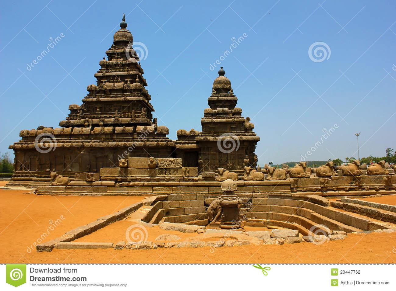 Shore Temple In Mahabalipuram,chennai,india Stock Photography.