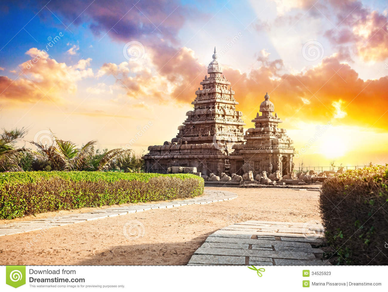 Shore Temple In Mahabalipuram,chennai,india Stock Photography.