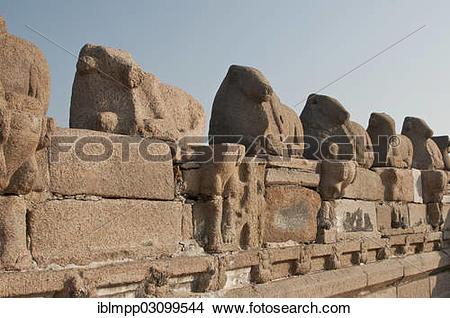 """Stock Photo of """"Shore Temple of Mahabalipuram, Mamallapuram."""
