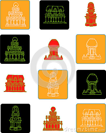 Mahabalipuram Stock Illustrations.