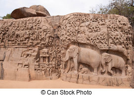 Stock Image of Mahabalipuram Temple Bass.