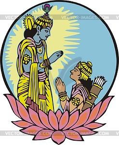 Mahabharat karna clipart.