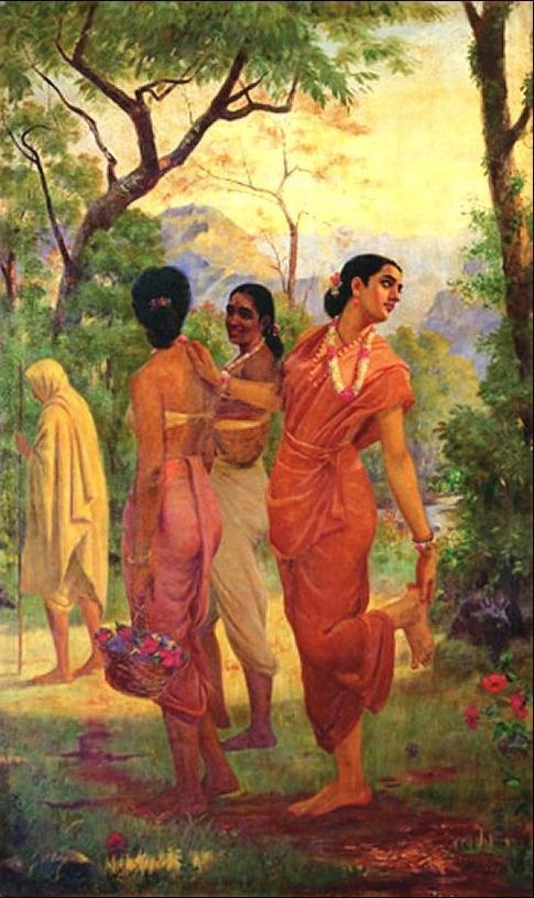 Raja Ravi Varma Mahabharata Shakuntala.