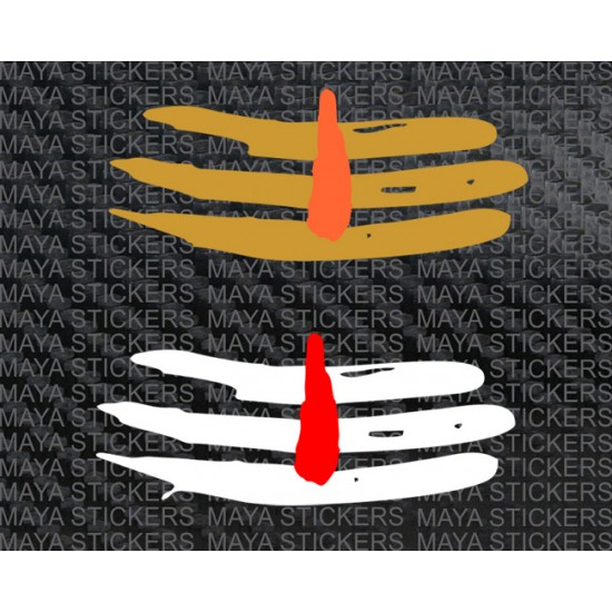 Mahadev tilak dual color sticker for cars, bikes, laptops.
