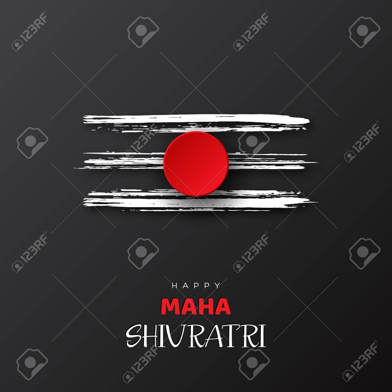 Greeting card for Hindu festival Maha Shivratri. Grunge texture...