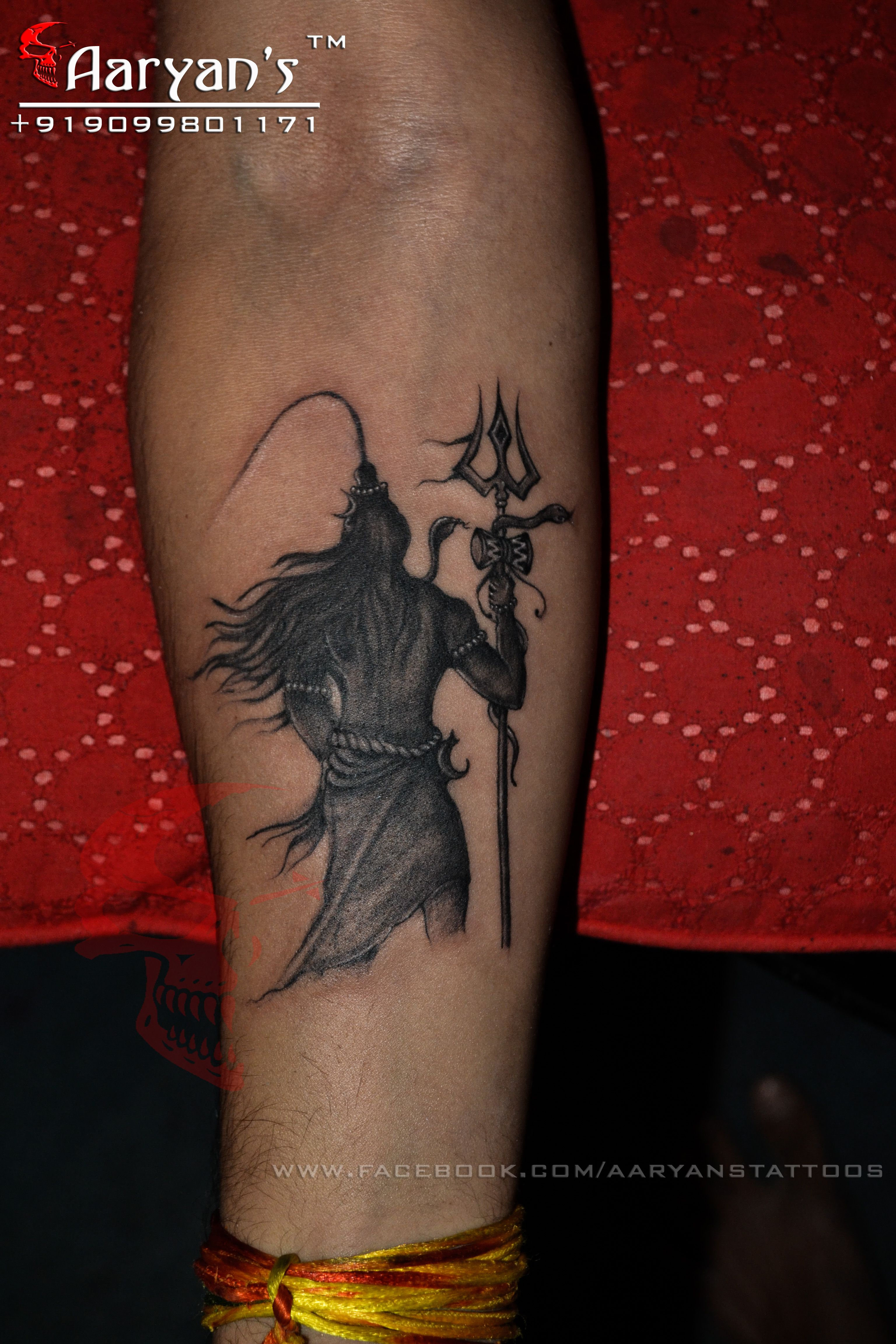 Har Har Mahadev, Jay Mahakal, Lord Shiva tattoo done by.