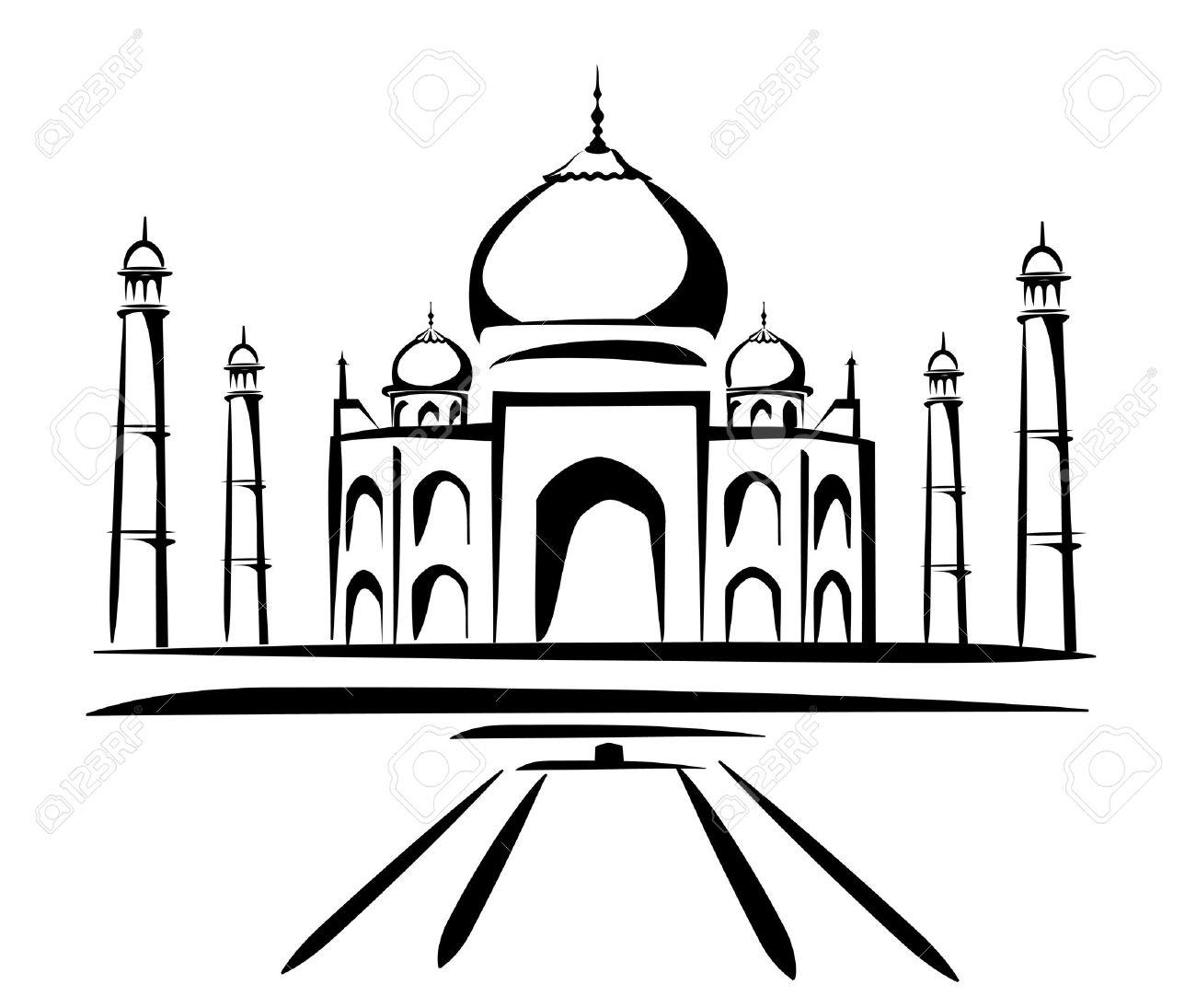 Taj Mahal Clip Art, Taj Mahal Free Clipart.