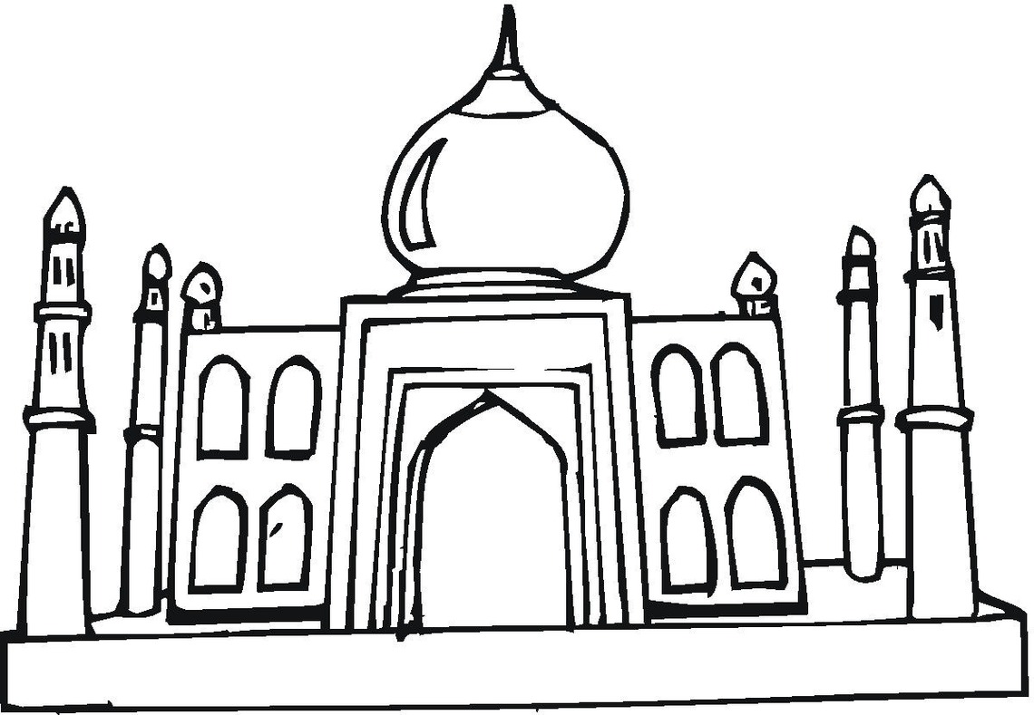 Taj Mahal Vector.