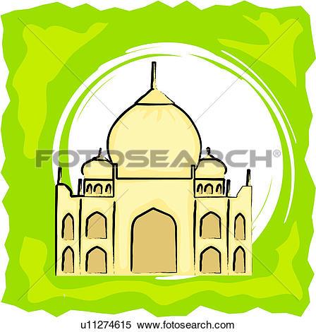 Clipart of Taj Mahal u11274615.