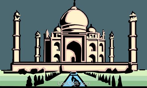 Taj Mahal Clipart, Taj Mahal Free Clipart.