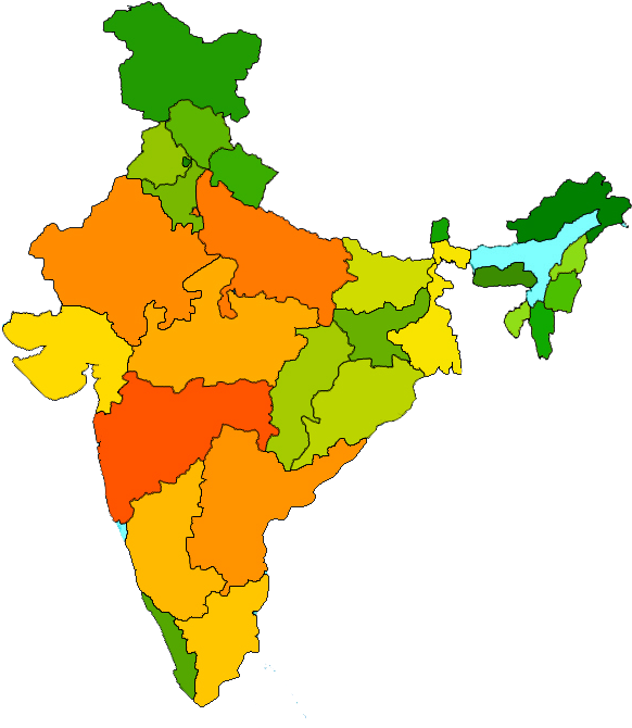 India Map Transparent Images Png.