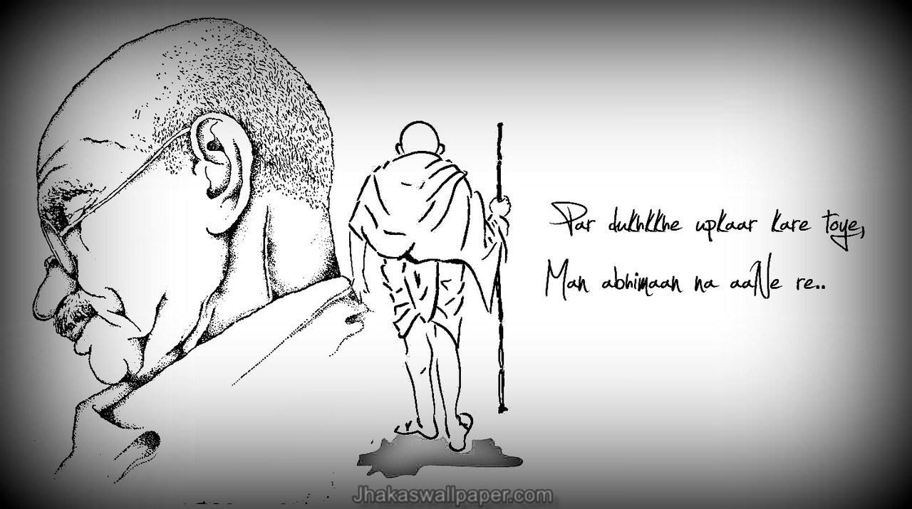 Life of Mahatma Gandhi Clip Art.