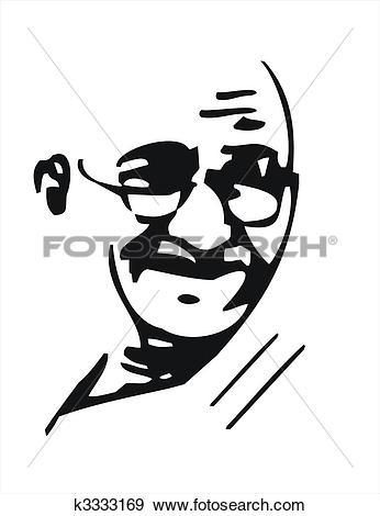 Stock Illustration of Mahatma Gandhi k3333169.