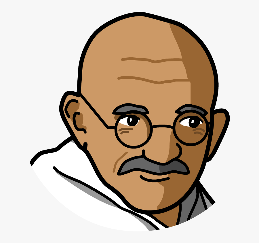 Transparent Gandhi Png.