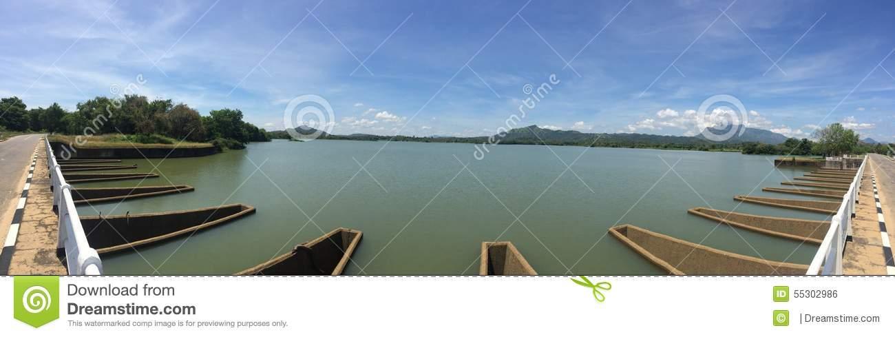 Loggal Oya Spillway Stock Photo.