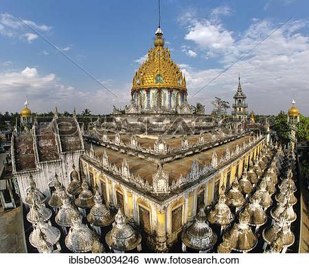 """Stock Images of """"Ah Lain Nga Sint Pagoda or Maha Say Wingaba."""