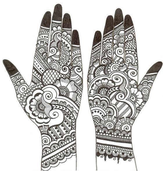 Mehndi designs clip art.