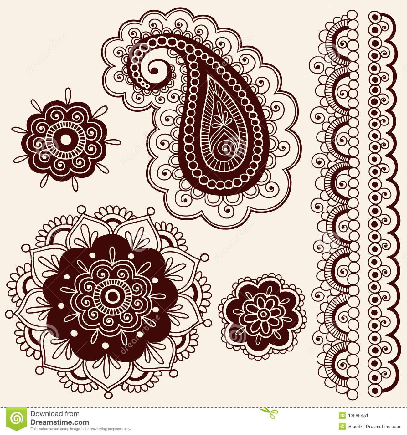Mehndi Stock Illustrations.