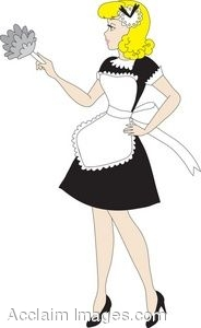 French maid clipart.