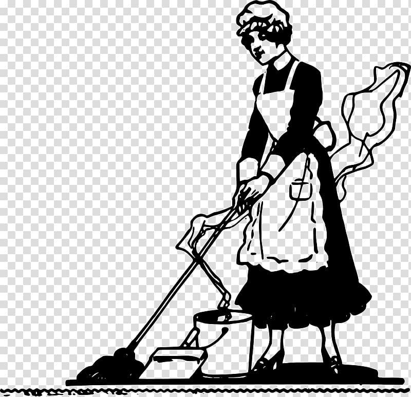Housekeeping , maid transparent background PNG clipart.