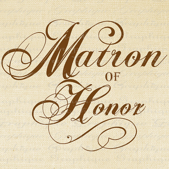 Matron Of Honor Clipart #1.